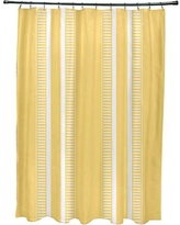 Beachcrest Home Mundell Dashing Stripe Single Shower Curtain BCMH3576 Color: Yellow