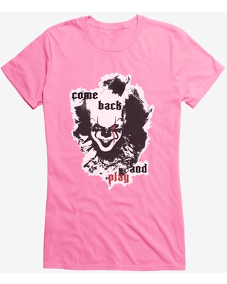 IT Chapter Two Come Back And Play Cutout Girls T-Shirt