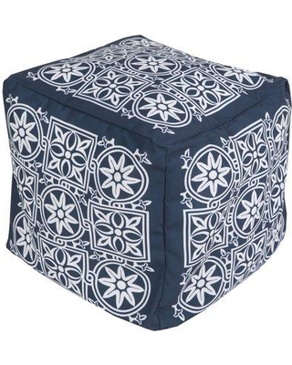 Darby Home Co Digby Upholstered Pouf DBHC3399 Upholstery: Navy