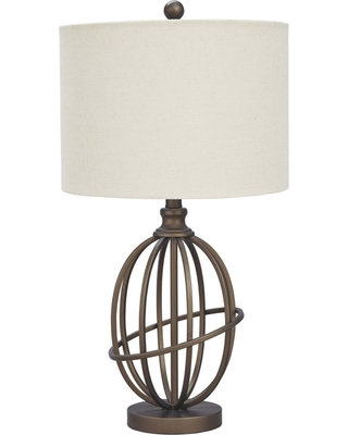 Manasa Metal Table Lamp Antique Brass (Lamp Only) - Signature Design by Ashley