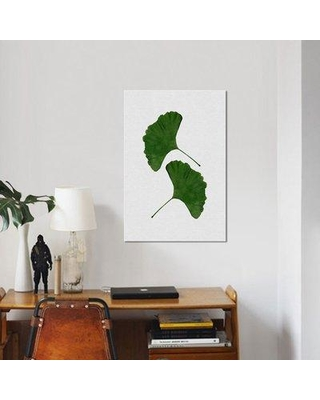 """East Urban Home 'Ginkgo Leaf II' Graphic Art Print on Canvas in Green UBAH9007 Size: 26"""" H x 18"""" W x 1.5"""" D"""