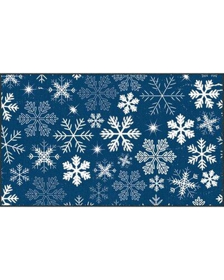 40 Off The Holiday Aisle Triplett Snowflakes Denim Area Rug Ax163 B540 1 Rug Size Rectangle 1 6 X 2 6