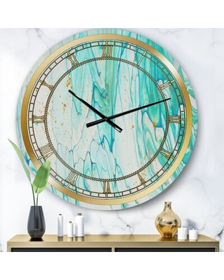 Can T Miss Bargains On Oversized Marble Wall Clock East Urban Home Size Medium