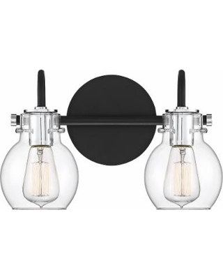 """Quoizel Andrews 8 3/4"""" High Earth Black 2-Light Wall Sconce"""