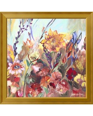 """East Urban Home 'First Day of Spring' Framed Oil Painting Print on Canvas EUAH7788 Size: 28"""" H x 28"""" W Matte Type: None"""