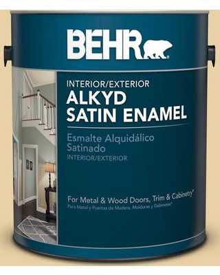 Behr Behr 1 Gal M300 3 Harmonious Gold Urethane Alkyd Satin Enamel Interior Exterior Paint From Home Depot Real Simple