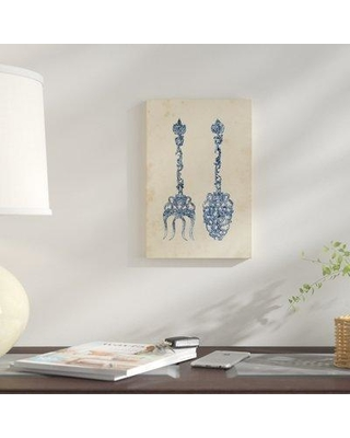 """East Urban Home 'Antique Utensils I' Graphic Art Print on Wrapped Canvas ESUH7883 Size: 12"""" H x 8"""" W x 0.75"""" D"""