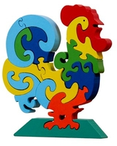 veZve Wooden Jigsaw Puzzle for Toddlers Kids 3 to 5 Years Old Boys and Girls Toy, Chicken