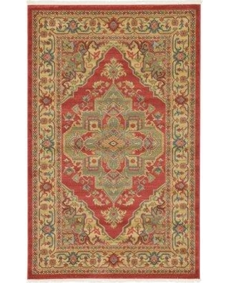World Menagerie Zoey Red Area Rug WDMG6421 Rug Size: Rectangle 7' x 10'