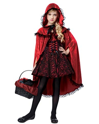 California Costumes Girls Deluxe Red Riding Hood Child Costume