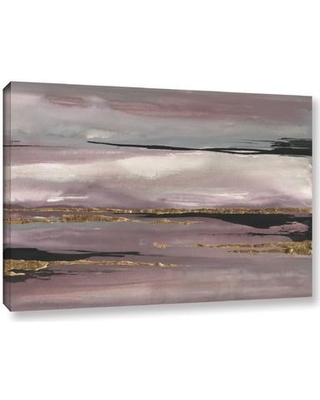 """Mercer41 Gilded Storm III Painting Print on Wrapped Canvas MRCR4800 Size: 24"""" H x 36"""" W x 2"""" D"""