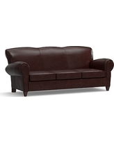 Manhattan Leather Sleeper Sofa, Polyester Wrapped Cushions, Signature Espresso