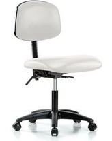 Perch Chairs & Stools Office Chair MLTK1 Upholstery Color: Adobe White Vinyl Arms: Not Included