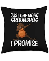Funny Groundhog Marmot Groundhog Costume Clothes Cool Gift for Men Women Groundhog Day Pet Rodent Throw Pillow, 18x18, Multicolor