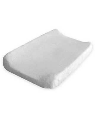 Go Mama Go Designs® Luxurious Minky Changing Pad Cover in White