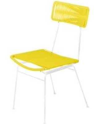Bungalow Rose Bordeaux Patio Dining Chair W001313903 Color: Yellow/White