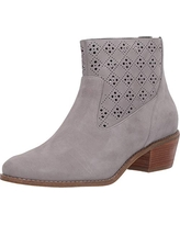 Cole Haan Women's Jayne Bootie Fashion Boot, Ironstone Suede and Perforated Suede, 7 B US