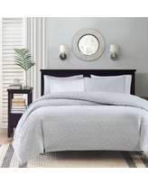 Vancouver Quilted Coverlet Set (King/California King) Gray - 3-Piece