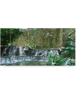 """Ebern Designs 'Water Fountains' Photographic Print on Wrapped Canvas EBRN2095 Size: 16"""" H x 32"""" W x 2"""" D"""