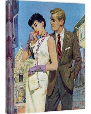 """Marmont Hill The Lady Had an Angle by Coby Whitmore Painting Print on Wrapped Canvas MH-FASGLM-64-C Size: 36"""" H x 30"""" W"""