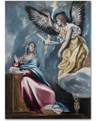 "Trademark Fine Art 'The Annunciation' Print on Wrapped Canvas AA00502-C Size: 24"" H x 18"" W"