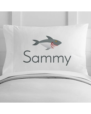Personalized Shark Toddler Pillow Case