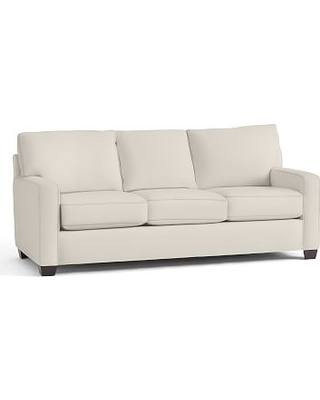 Buchanan Square Arm Upholstered Deluxe Sleeper Sofa, Polyester Wrapped Cushions, Twill Cream