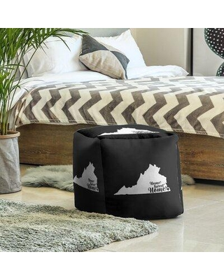 East Urban Home Home Sweet Virginia Beach Cube Ottoman EBJC3306 Upholstery Color: Black
