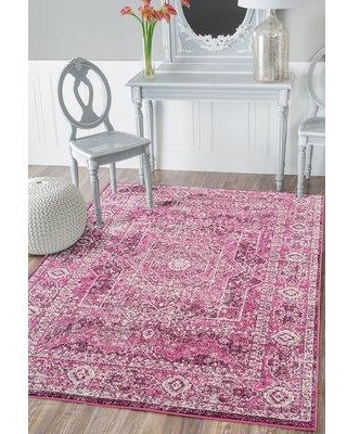"""Bungalow Rose Dietz Magenta Area Rug BGRS8706 Rug Size: Rectangle 12'6"""" x 15'"""