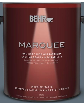 BEHR MARQUEE 1 gal. #N480-6 NYPD One-Coat Hide Matte Interior Paint and Primer in One