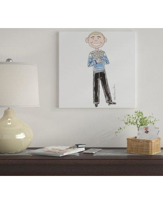 """East Urban Home 'Jean Paul Gaultier' by Kahri Graphic Art Print on Wrapped Canvas EUME3887 Size: 12"""" x 12"""" x 1.5"""""""