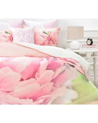 East Urban Home Peonies Duvet Cover Set EUNH5546 Size: King