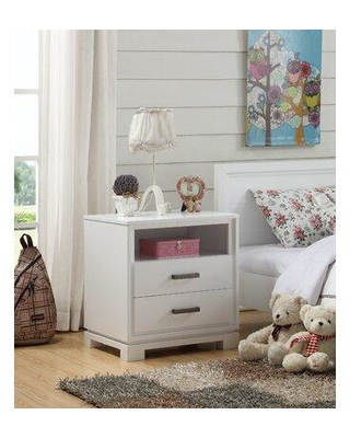 Shop For Isabelle Max Kelsi 2 Drawers Nightstand In White Size 25 H X 18 W X 24 D Wayfair Terr Nt Wh1