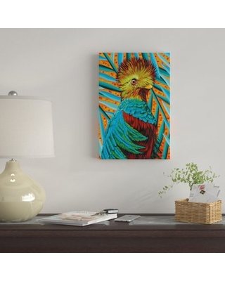 """'Bird in the Tropics I' Graphic Art Print on Canvas East Urban Home Size: 18"""" H x 12"""" W x 0.75"""" D"""