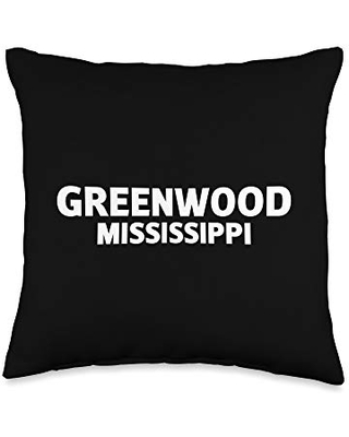 BW Funny Gifts Greenwood Mississippi Throw Pillow, 16x16, Multicolor