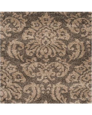Safavieh Safavieh Florida Shag Smoke Beige 4 Ft X 4 Ft Square Area Rug From Home Depot People