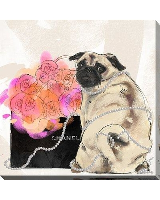"""PicturePerfectInternational 'Stop and Smell the Flowers' Graphic Art Print 704-4627 Size: 18"""" H x 18"""" W x 1"""" D Format: Wrapped Canvas"""
