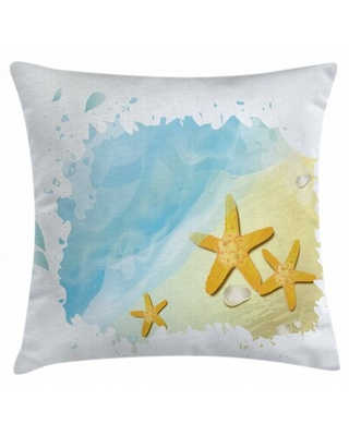 """Starfish Indoor / Outdoor 40"""" Throw Pillow Cover East Urban Home"""