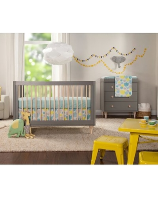 babyletto Lolly 3-in-1 Convertible 2-Piece Standard Crib Nursery Furniture Set Color: Grey