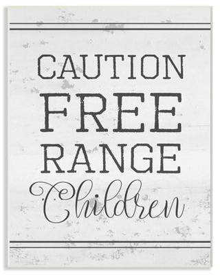 The Stupell Home Decor Collection Caution Free Range Children Oversized Wall Plaque Art
