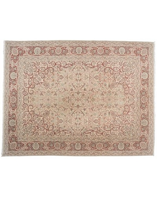 """One-of-a-Kind Sivas Design Hand-Knotted 9'1"""" x 11'1"""" Wool Red/Beige Area Rug Aga John Oriental Rugs"""