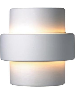 Justice Design Ambiance 2-Light Large Step Bisque Wall Sconce
