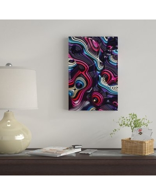 """'Weirdiiii' By Danny Ivan Graphic Art Print on Wrapped Canvas East Urban Home Size: 40"""" H x 26"""" W x 0.75"""" D"""