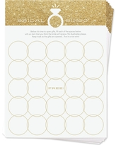 12ct Inklings Paperie Faux Glitter Bridal Bingo Game Cards