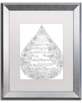 """Trademark Fine Art 'Inspirational Quotes' Framed Graphic Art on Canvas ALI3016-S1114BMF / ALI3016-S1620BMF Size: 20"""" H x 16"""" W x 0.5"""" D Matte Color: White"""