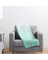 "Ivy Bronx Estes Mint Ombre Throw Blanket IVYB5318 Size: 40"" H x 30"" W"