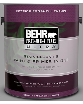 BEHR Premium Plus Ultra 1 gal. #PPU26-06 Elemental Gray Eggshell Enamel Interior Paint and Primer in One