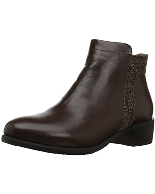 Propet Women's Taneka Ankle Bootie, Brown, 7 2E US