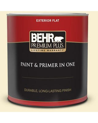 Spectacular Deals On Behr Premium Plus 1 Qt Yl W03 Honied White Flat Exterior Paint And Primer In One