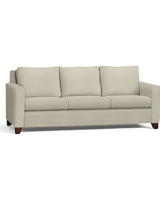 """Cameron Square Arm Upholstered Grand Sofa 96"""", Polyester Wrapped Cushions, Premium Performance Basketweave Oatmeal"""